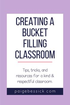 Creating a bucket filling classroom has everything you need to teach this unique concept. The blog post explains exactly how a first grade teacher teaches her students how to be bucket fillers. From a read aloud for Have You Filled a Bucket Today? to sorts, activities Teaching Character, Character Education, Creative Teaching, Teaching Tips, Bucket Filling Classroom, Bucket Filler Activities, Bucket Fillers, Interactive Read Aloud, 21st Century Learning