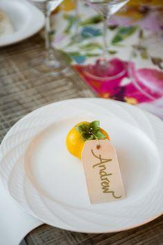 Seasonal table tag - persimmons in ATL