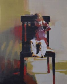 "Saatchi Art Artist Mark Horst; Painting, ""child in chair no. 3"" #art"