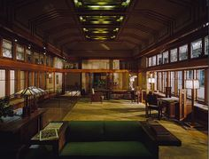 Francis Little House - Frank Lloyd Wright - this room is in the Metropolitan Museum, NYC