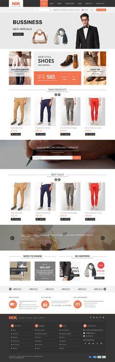 Nik - Responsive WordPress Theme for Fashion Store