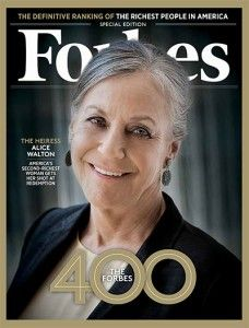 "Wal-Mart heirs do make a decision to be cheap with Wal-Mart employees. They act in a way that the founder would not have wanted. [""Inside The World Of Walmart Billionaire Alice Walton, America's Richest Art Collector - Forbes""]"