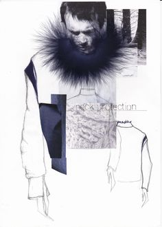 Fashion Sketchbook - fashion illustration; fashion collage; fashion portfolio // Katarina Lindell