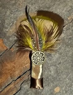 Camouflage Boutonniere Camo Bride green tan taupe by kathyjohnson3