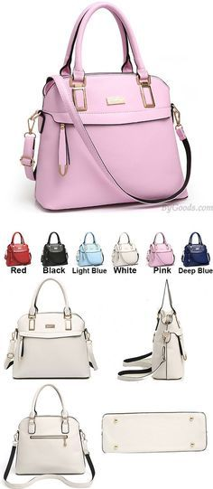 Which color do you like? Fashion PU Shell Shape Zipper Colorful Women Handbag Leisure Shoulder Bag #fashion #women #handbag #leisure  #bag #shell