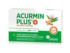 Kurkuma Kapseln hochdosiert von Acurmin PLUS®: Das Mizell-Curcuma (Curcumin) mit Vitamin D3, OHNE Piperin/Bioperin/Pfeffer von Cellavent Healthcare GmbH - 60 Kapseln: Amazon.de: Drogerie & Körperpflege