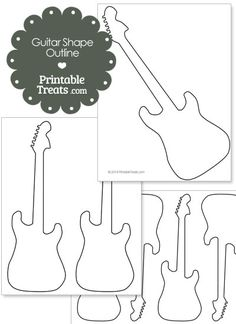 guitar cut out template - shapes and templates printables on pinterest bubble