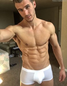 Hot Guys in Boxers Diy Ripped Jeans, Jock, Men's Undies, White Underwear, Attractive Men, Male Beauty, Male Body, Slip, Beautiful Men