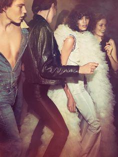 Liya Kebede, Cameron Russell, Edie Campbell, Karlie Kloss, Anna Ewers, Rianne ten Haken, Mica Arganaraz by Inez van Lamsweerde & Vinoodh Matadin for Vogue Paris, May 2015