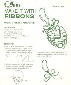 Lace 'n' Ribbon Roses: Pinecone Ornament/Pincushion