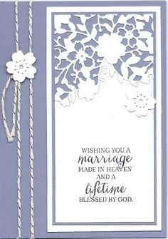 Bloomin Heart Wedding Card: