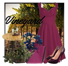 """Vineyard"" by elisapar ❤ liked on Polyvore featuring Pottery Barn, Louis Vuitton, Nearly Natural, Christian Louboutin, napa, winerywedding, bestdressedguest and vineyardwedding"