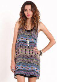 Tribal Vibrance Aztec Print Dress