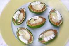 Margarita Pies with Salted Graham Crusts, Topped with Alcohol Whipped Cream. In Lime Cups.and Jimmy Buffett Tailgating - 1 Fine Cookie Key Lime Margarita, Margarita Pie, Yummy Treats, Sweet Treats, Good Food, Yummy Food, Jimmy Buffett, Party Buffet, Lime Pie