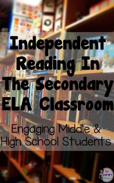 The Literary Maven: Independent Reading in the Secondary ELA Classroom: Engaging Middle School & High School Students High School Reading, 6th Grade Reading, Middle School Ela, Middle School English, English Class, Student Reading, Teaching Reading, Teaching Ideas, Teaching Literature