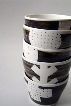 Japanese Pottery Cups by silvia
