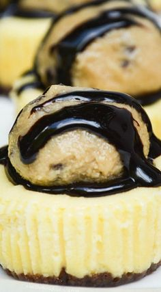 Chocolate Chip Cookie Dough Mini Cheesecakes