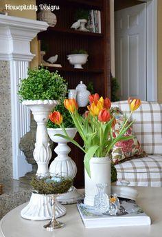 Spring Vignette www.housepitalitydesigns.com