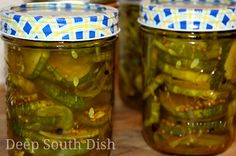 Deep South Dish: Icebox Bread and Butter Pickles