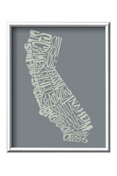 50 Dazzling Decor Finds, All Under $50! - Art.com California Framed Art Print, $44.99, available at Art.com.