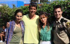 Márcio Garcia com Camilla Belle, Juliette Lewis e Colin Egglesfield. Foto: Divulgação