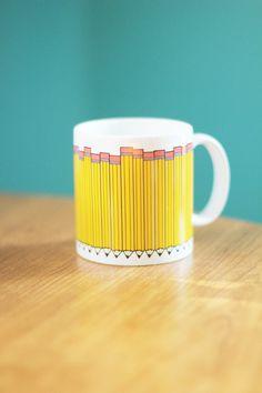 Vintage Pencil Mug [fun!]