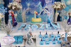 Festa tema Frozen_decoração mesas 1