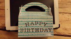 Happy birthday doosje gemaakt met behulp van de silhouette cameo