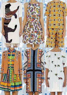 MSGM S/S 2013-Exotic Animal Prints – Bold Playful Imagery – Digitalised Navajo Patterns – Massai Inspired Prints – Fun Ethnic Mixes