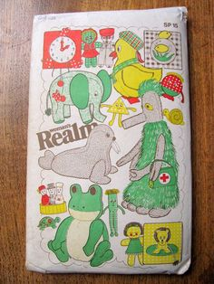 Vintage Women's Realm Toy Sewing Pattern (1970's) - Uncut