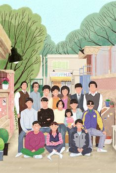 Reply 1988 on Behance K Wallpaper, Kawaii Wallpaper, Aesthetic Iphone Wallpaper, Korean Art, Foto Art, Cute Cartoon Wallpapers, Graphic Design Posters, Cute Illustration, Digital Illustration
