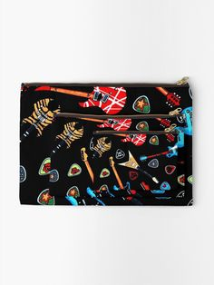 """Electric Rock Guitars"" Zipper Pouch by HavenDesign 