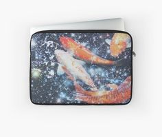 Koi Fish Sparkly Aesthetic Collage • Millions of unique designs by independent artists. Find your thing. Japanese Koi, Aesthetic Collage, Laptop Case, Laptop Sleeves, Finding Yourself, Artists, Unique, Design