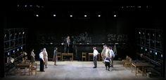 """Our Class""- play-Cameri theatre, Tel-Aviv,Israel feb 2014. Dir: Hannan Snir. Set: Roni Toren. Cos: Polina Adamov. Light: Meir Alon."