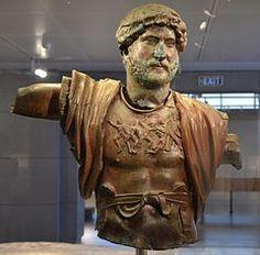 Bronze statue of Hadrian, found at the Camp of the Sixth Roman Legion (Legio VI Ferrata) in Tel Shalem, AD, Israel Museum, Jerusalem Ancient Rome, Ancient History, Ancient Greece, Ancient Artefacts, Roman Legion, Roman Sculpture, Bronze Sculpture, Art Antique, Roman History