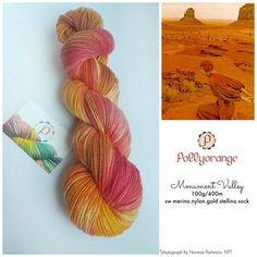 Monument valley hand dyed 100g sw merino nylon by Pollyorange