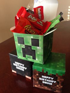 Scavenger Hunt DIY printable Minecraft inspired party boxes by AtlasArtistry, $10.00