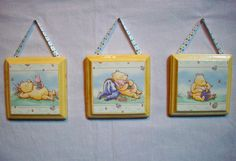 Set 3 Wall Wood Plaques Hangings Classic by cathyscraftycovers, $36.00