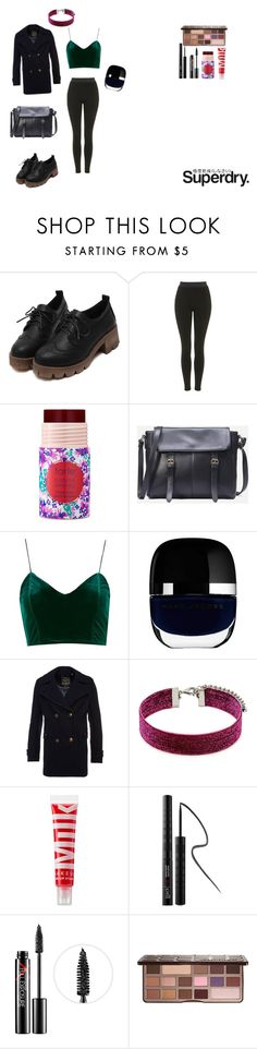 """""""The Cover Up – Jackets by Superdry: Contest Entry"""" by squishybeans ❤ liked on Polyvore featuring Superdry, Topshop, tarte, Marc Jacobs, Forever 21, MILK MAKEUP, blacklUp, Smashbox and Too Faced Cosmetics"""