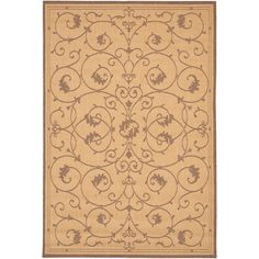Couristan Inc Recife Veranda Natural And Cocoa Area Rug 8 6 X 13