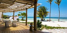 Tortuga Bay  ( Punta Cana, Dominican Republic )  Bamboo Restaurant provides upscale Caribbean dishes and excellent seafood at the intimate resort.