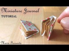 Creating Dollhouse Miniatures: Miniature Romantic Journal Tutorial