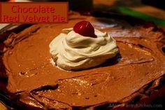 Chocolate Mousse Pie with Red Velvet Crust http://www.momspantrykitchen.com/chocolate-red-velvet-pie.html