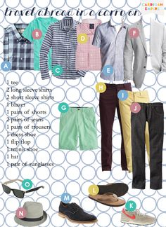 Wardrobe Capsule for Dad: Mens Traveling Cluster