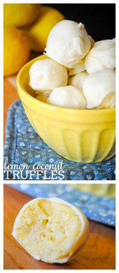 Lemon Coconut Truffles - A refreshing citrus and creamy lemon dessert that everyone will love! | The Love Nerds