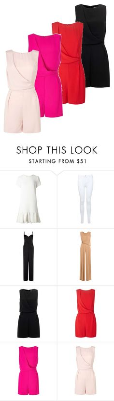 """drape playsuit"" by angelbrubisc ❤ liked on Polyvore featuring Miss Selfridge and Alberta Ferretti"