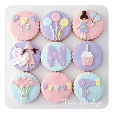 Organizing Baby Shower in becomes an excuse to make a meeting with your friends, besides giving you a whim and receiving gifts for your baby which will be very useful [. Kawaii Cookies, Baby Cookies, Iced Cookies, Cupcake Cookies, Sugar Cookies, Cupcakes Fondant, Kid Cupcakes, Fondant Toppers, Gateau Baby Shower