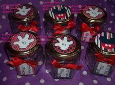 Resultado de imagen para frascos de compotas decorados mickey