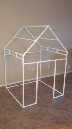 Save time and effort by ordering this ready to assemble 3/4 PVC frame for any playhouse in this shop. While you can purchase the house covering alone and receive a materials list and complimentary instructions for the frame, you may prefer the time saving convenience of having the