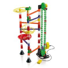 Loving this Quercetti Marble Run & Motorized Elevator Set on Gifts For Boys, Gifts For Family, Boy Gifts, Wooden Marble Run, Marble Runs, Marble Machine, Flying Pig, Santa Baby, Shower Gifts
